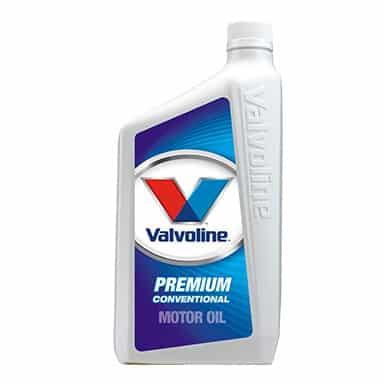 Valvoline premium conventional motor oil quart.
